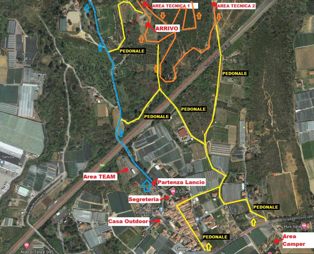 mappa logistica gara Campochiesa