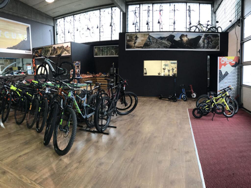 interno negozio Gagabike a Piacenza