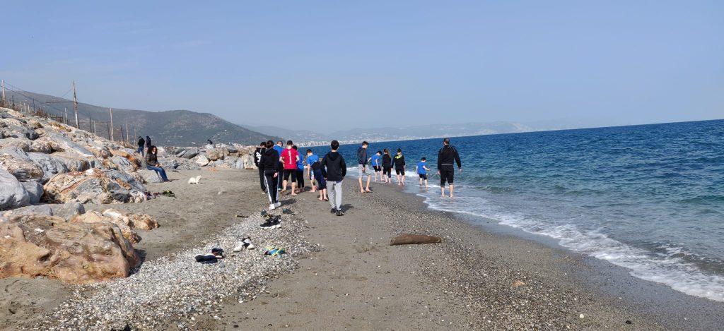 gagateam in spiaggia